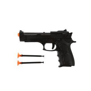 Пистолет, стрелы с присосками 2шт., пакет