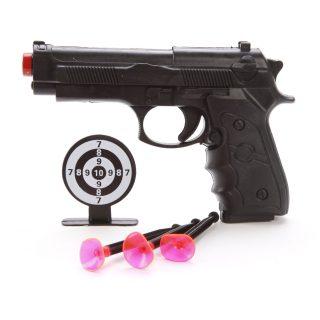 Пистолет, стрелы с присосками 3шт., мишень, пакет