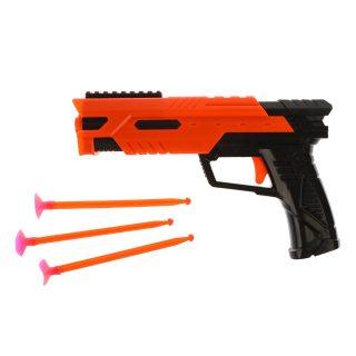 Пистолет, стрелы с присосками 4шт., пакет