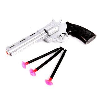 Револьвер, стрелы с присосками 3шт, пакет