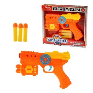 Бластер c мягкими пулями, в комплекте: м/пули 5шт., коробка