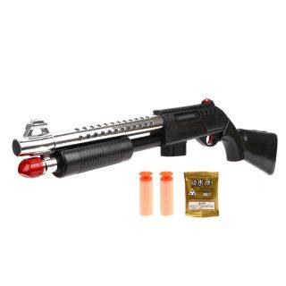 Дробовик, м/пули с присосками 2шт., гелев.пули 500 шт., пакет