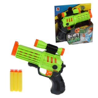 Пистолет с мягкими пулями, в комплекте: м/пули 3шт.