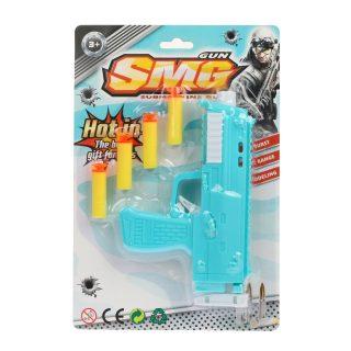 Пистолет с мягкими пулями, в комплекте: м/пули 4шт., блистер