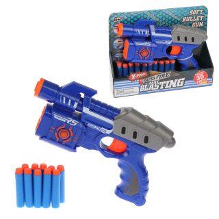 Пистолет с мягкими пулями, в комплекте:м/пули 10шт., дисплей
