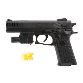 Пистолет мех., 170 мм, лазер, эл.пит.AG10*2шт.вх. в комплект, пакет