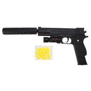 Пистолет мех., фонарь, глушитель, 210мм., эл.пит.AG10*3 шт. вх.в компл., пакет
