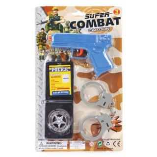 Игр.набор Военная полиция, пистолет, наручники, значок