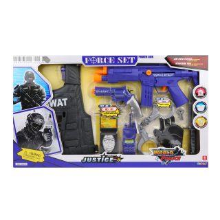 Игр.набор Полиция, в комплекте предметов 10шт., свет, звук, эл.пит.AG13*2шт.не вх.в комплект, коробка