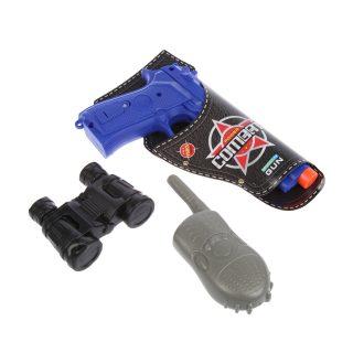Игр.набор Полиция, звук, в комплекте: предметов 4шт., эл.пит.АG13*3шт.не вх.в комплект, пакет