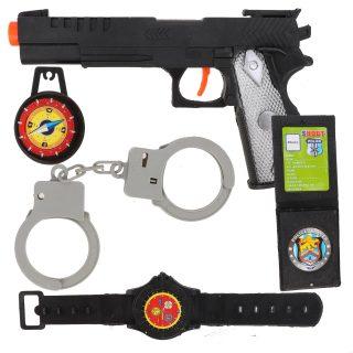Игр.набор Полиция, комплектность 5 предметов, пакет