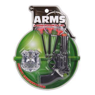 Игр.набор Полиция, пистолет, стрелы с присосками 3шт., жетон, блистер