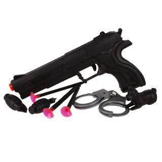 Игр.набор Полиция, пистолет, стрелы с присосками 3шт., наручники,ключи, граната 2шт., фигурка, пакет