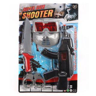Игр.набор Спецназ, в комплекте: автомат трещ., предметы 3шт., блистер