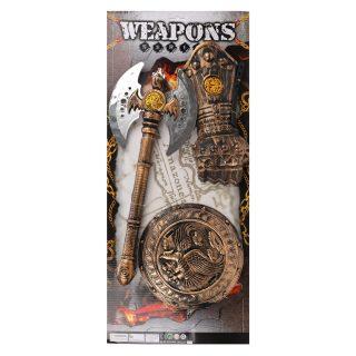 Игр.набор Рыцарь, лабрис, щит, защита на руку
