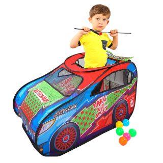 Палатка игровая Авторалли, в комплекте пластмассовые шарики 20 шт., сумка на молнии