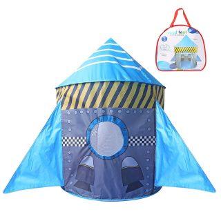 Палатка игровая Ракета, 80*80*105 см, сумка на молнии