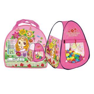 Палатка игровая Цветочный рай, сумка на молнии