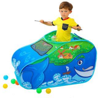Палатка игровая Чудо Кит, в комплекте пластмассовые шарики 20 шт., сумка на молнии