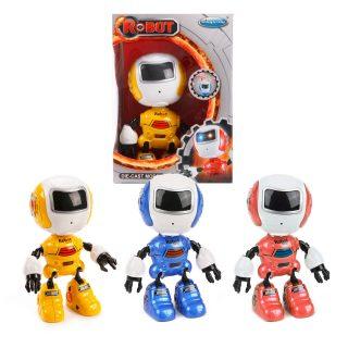 Робот эл., Косморобот, 12см, свет, звук, запись голоса, тестовые эл.пит.AG13*3шт.вх.в комплект, коробка