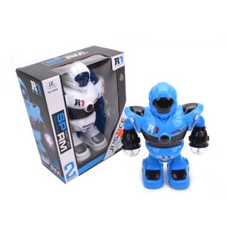 Робот эл., свет 3D, звук, эл.пит.АА*3шт.не вх.в комплект, коробка