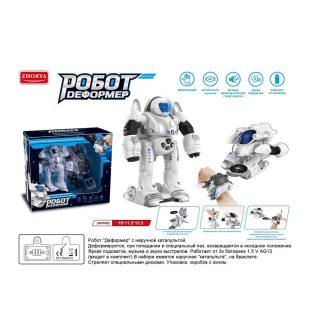 Трансформер Робот эл., свет, звук, в комплекте: наручный дискомет, пули/диски 3шт., эл.пит.AG13*3шт.не вх.в комплект