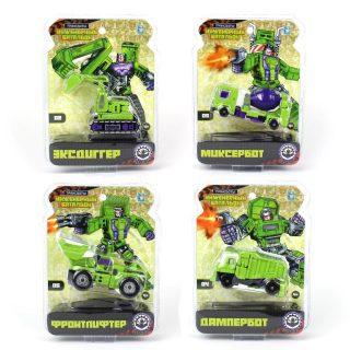 """Трансботы """"Инженерный батальон"""" в ассорт. 6 видов, из 6 шт. собирается большой робот, блистер"""