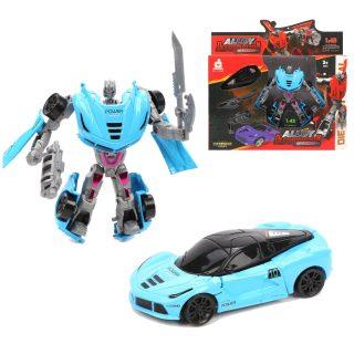 Трансформер Робот-машина, оружие 2шт., коробка