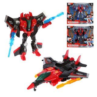 Трансформер Робот-самолет в комплекте оружие 4шт., коробка
