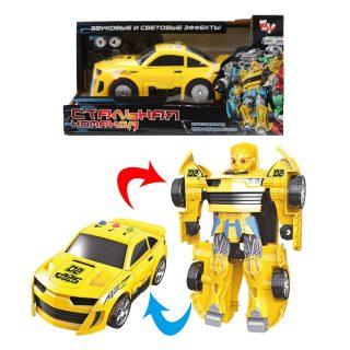 Трансформер эл. Машина-робот, свет, звук, эл.пит.LR41*3шт.вх.в комплект, коробка