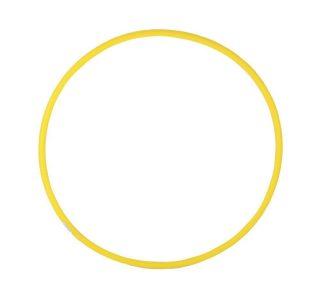 Обруч d 60см облегченный желтый