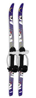 Лыжи детские Быстрики с палками, Пингвины (90/90)