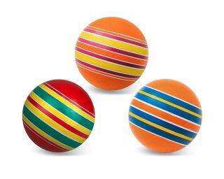 Мяч детский 10 см, Серия Полосатики ручное окраш.,в ассорт.