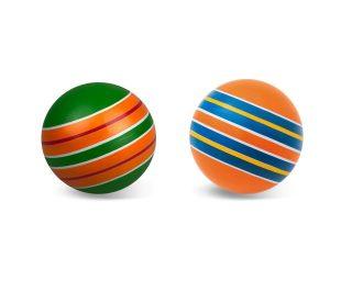 Мяч детский 12,5 см, Серия Полосатики ручное окраш.,в ассорт.