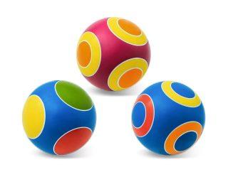 Мяч детский 15 см Серия Кружочки ручное окраш., в ассорт.