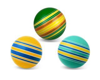 Мяч детский 15 см Серия Полосатики ручное окраш., в ассорт.