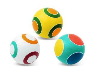 Мяч детский 20 см Серия Кружочки ручное окраш., в ассорт.