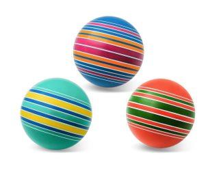 Мяч детский 20 см Серия Полосатики ручное окраш., в ассорт.