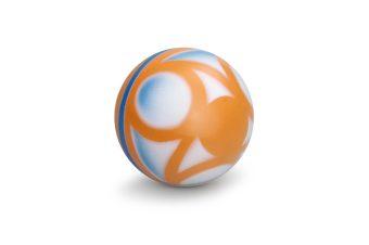 Мяч детский Вертушок, 10 см, окраш. по трафарету, в ассорт.