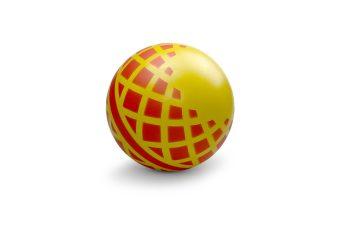 Мяч детский Кружочки 15 см, окраш. по трафарету, в ассорт.