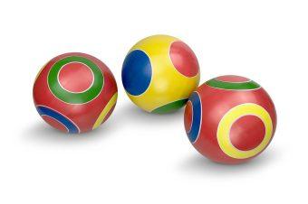Мяч детский Кружочки, 12,5 см, ручное окраш., в ассорт.