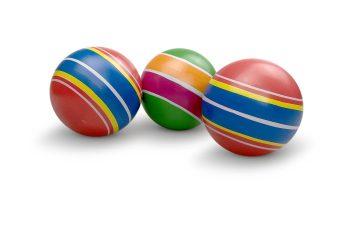 Мяч детский Полосатики 7,5 см, ручное окраш., в ассорт.