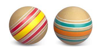 Мяч детский Эко Волчок 10 см, ручное окраш., в ассорт.