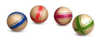 Мяч детский Эко Крестики-нолики, 7,5 см, ручное окраш., в ассорт.