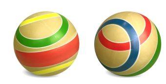 Мяч детский Эко Сатурн, 15 см, ручное окраш.,в ассорт.