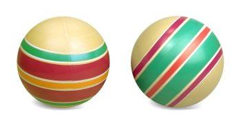 Мяч детский Эко Юла 12,5 см, ручное окраш., в ассорт.