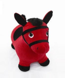 Лошадка-попрыгунчик Наша игрушка, красн.