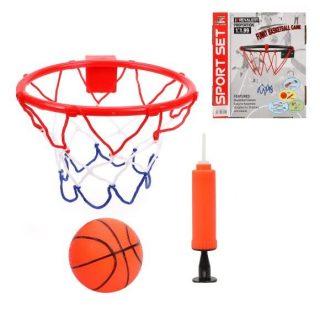 Набор для игры в баскетбол Профи, кольцо металл 23 см, мяч, насос с иглой, крепление, коробка
