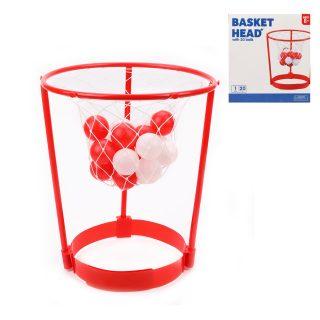 Набор для игры в баскетбол, корзина 31 см, фиксатор на голову, мячи 20 шт., коробка