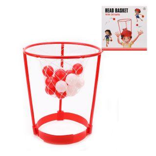 Набор для игры в баскетбол, корзина, фиксатор на голову, мячи 20 шт.